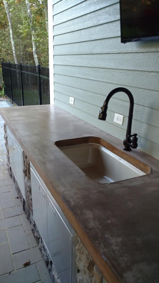 Concrete Countertops And Outdoor Kitchens: